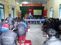 Đại biểu Hội đồng nhân dân huyện tiếp xúc cử tri tại xã Quế Minh
